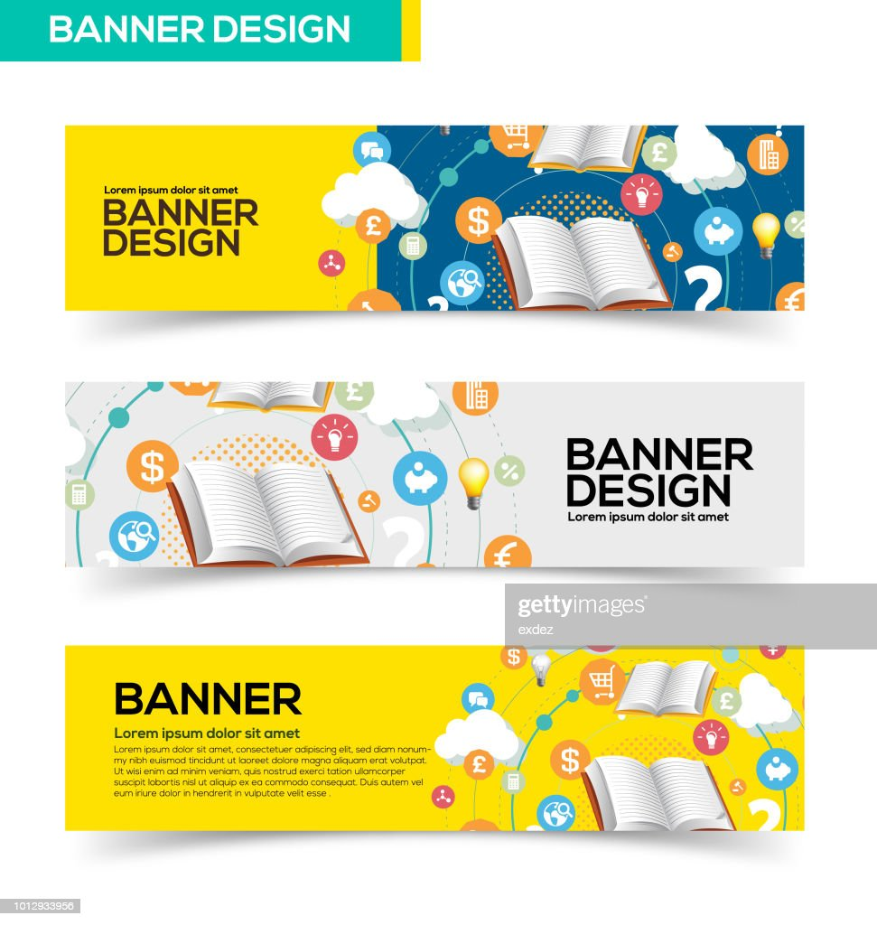 Business Learning Banner Design High Res Vector Graphic Getty Images