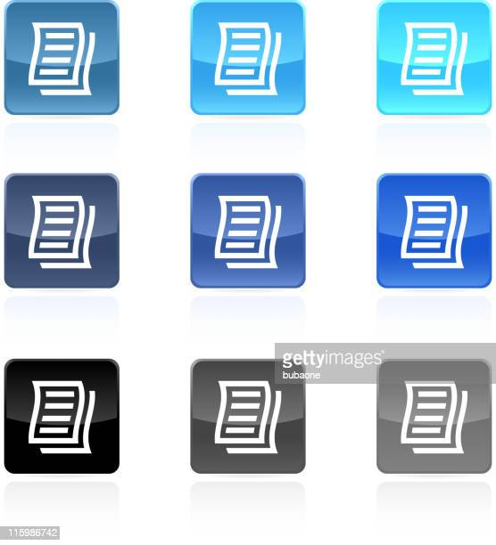 business letter royalty free vector art button set