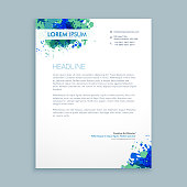 business letterhead abstract  template vector design illustration