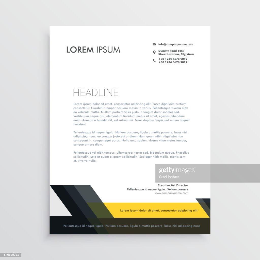Business Briefbogen Designvorlage Vektorgrafik Getty Images