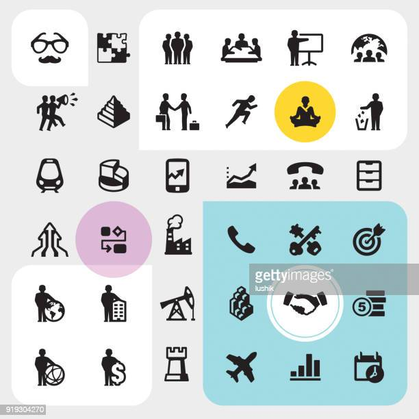 business lifestyle - icons pack - striker stock illustrations