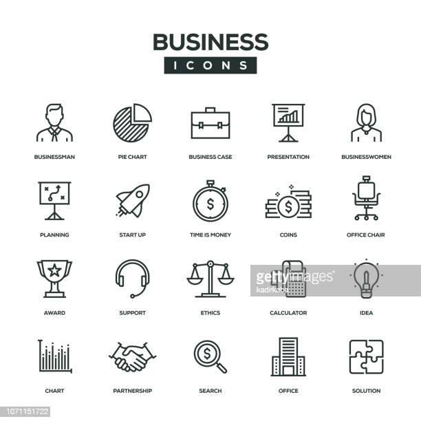 ilustrações, clipart, desenhos animados e ícones de ícone de linha de negócios - tempo é dinheiro