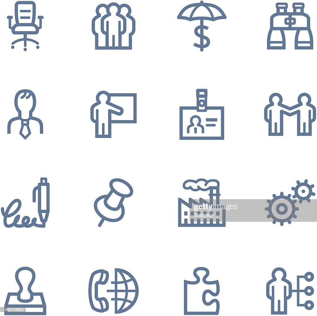 Business Line icons : stock illustration