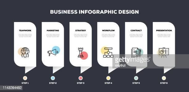 business line infographisches design - ehre stock-grafiken, -clipart, -cartoons und -symbole