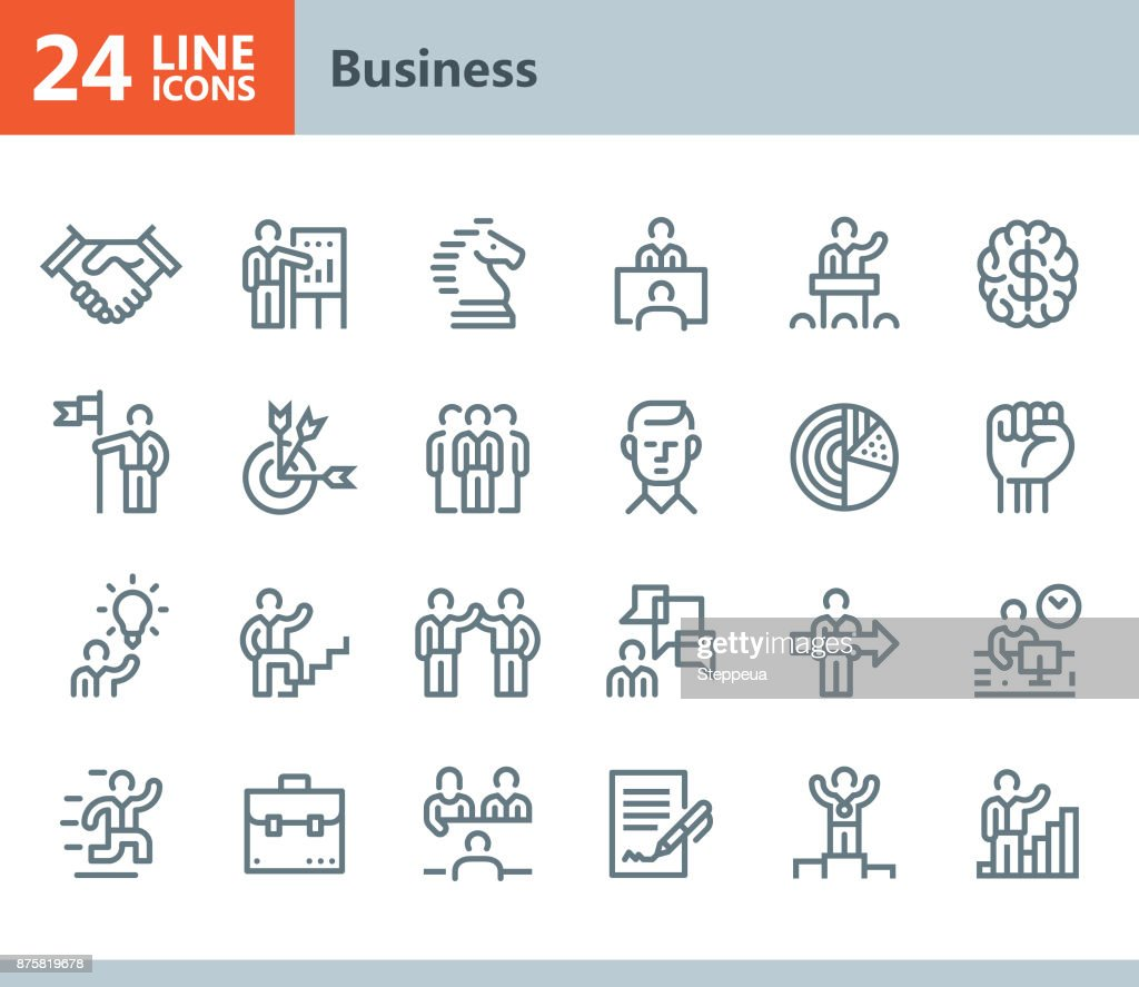 Business - line vector icons : Stock Illustration