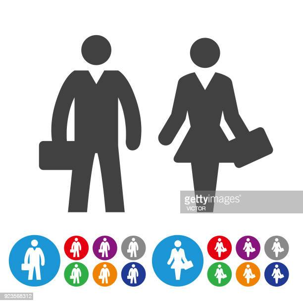 Business-Mann und Frau Ikonen - Grafik Icon Serie