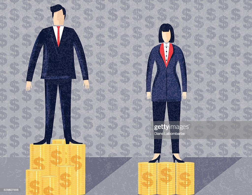 Business Man and Woman Workplace Inequality