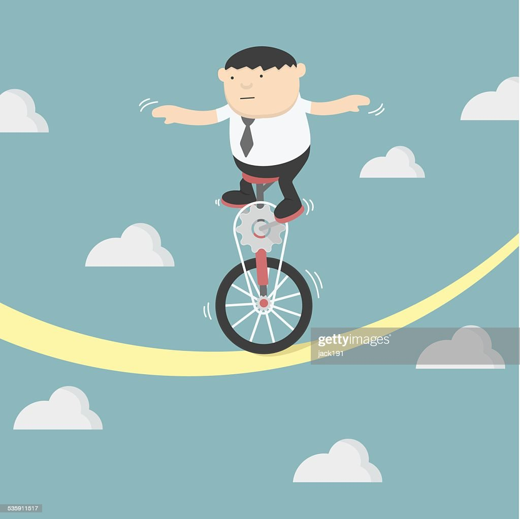 Homem de Negócios de Equilíbrio : Arte vetorial