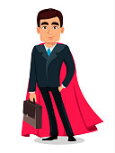 Business man cartoon character in formal suit