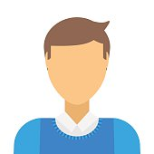Business man icon abstract face office people vector