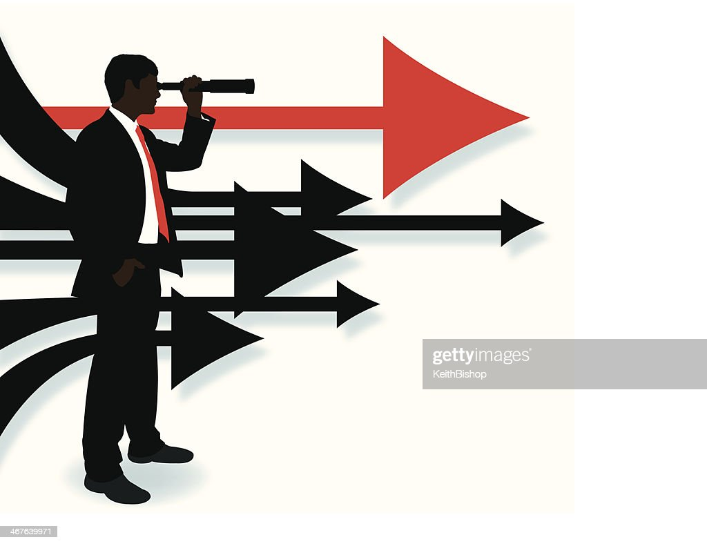 Business man looking ahead directional arrows background vector art business man looking ahead directional arrows background vector art thecheapjerseys Gallery