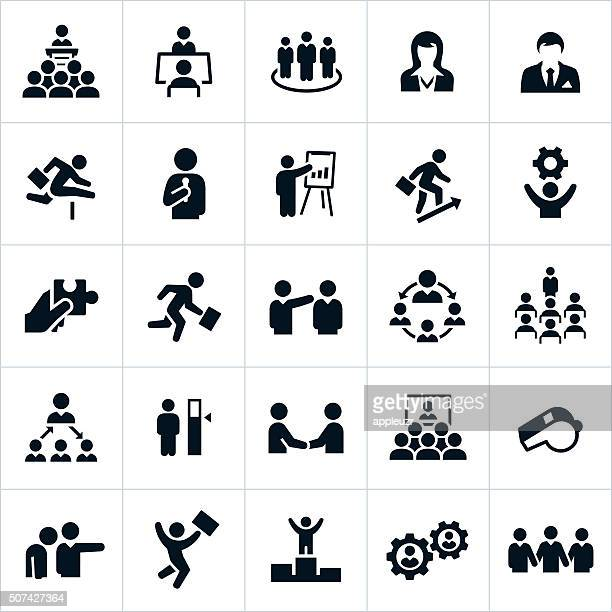 business management and leadership icons - achievement stock illustrations, clip art, cartoons, & icons