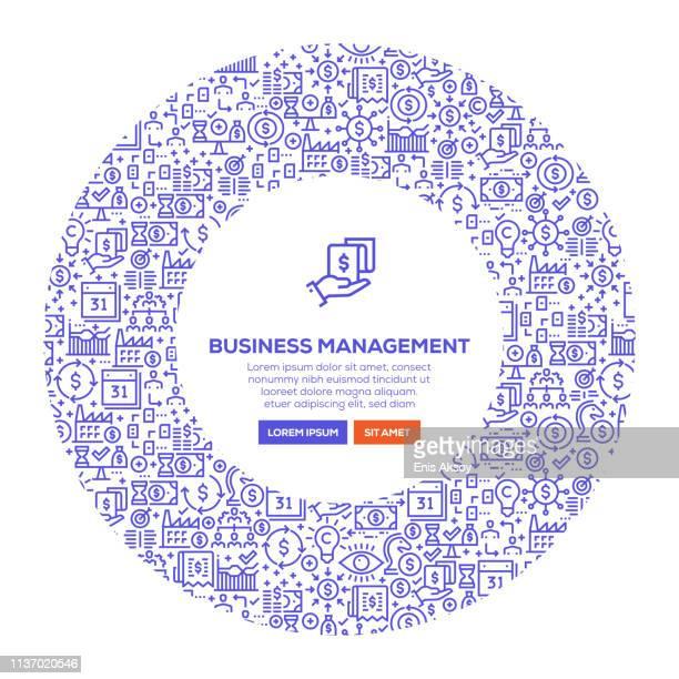 business management banner - cash flow stock illustrations, clip art, cartoons, & icons