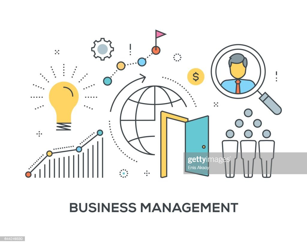 Business Management Concept with icons