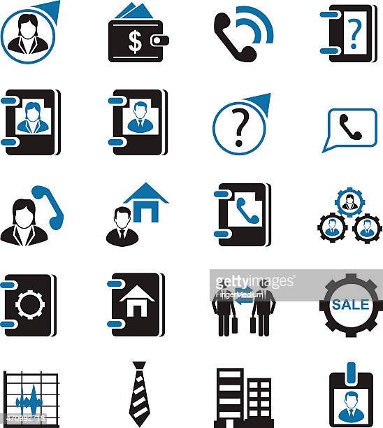 Business management icon set