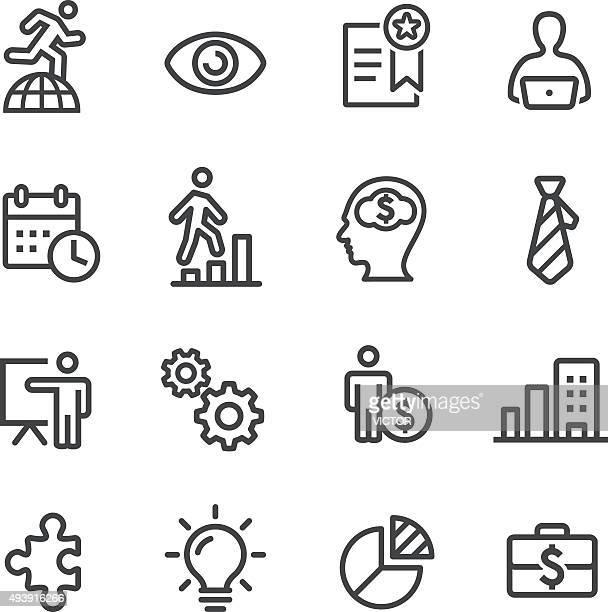 Affaires icônes de gestion-Série de ligne