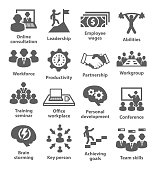Business management icons. Pack 11.