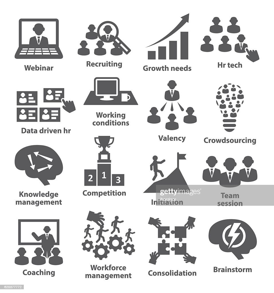 Business management icons. Pack 30.