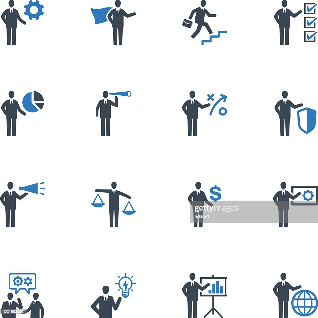 Business Management Icons Set 2 - Blue Series