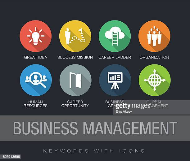 Business Management keywords with icons
