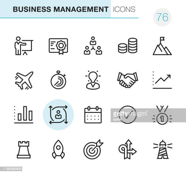 business management - pixel perfect icons - change stock illustrations