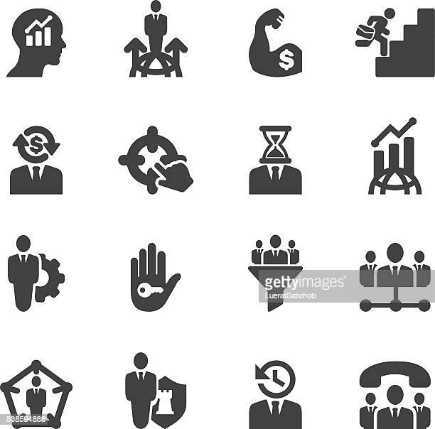 Business & Management Silhouette icons | EPS10