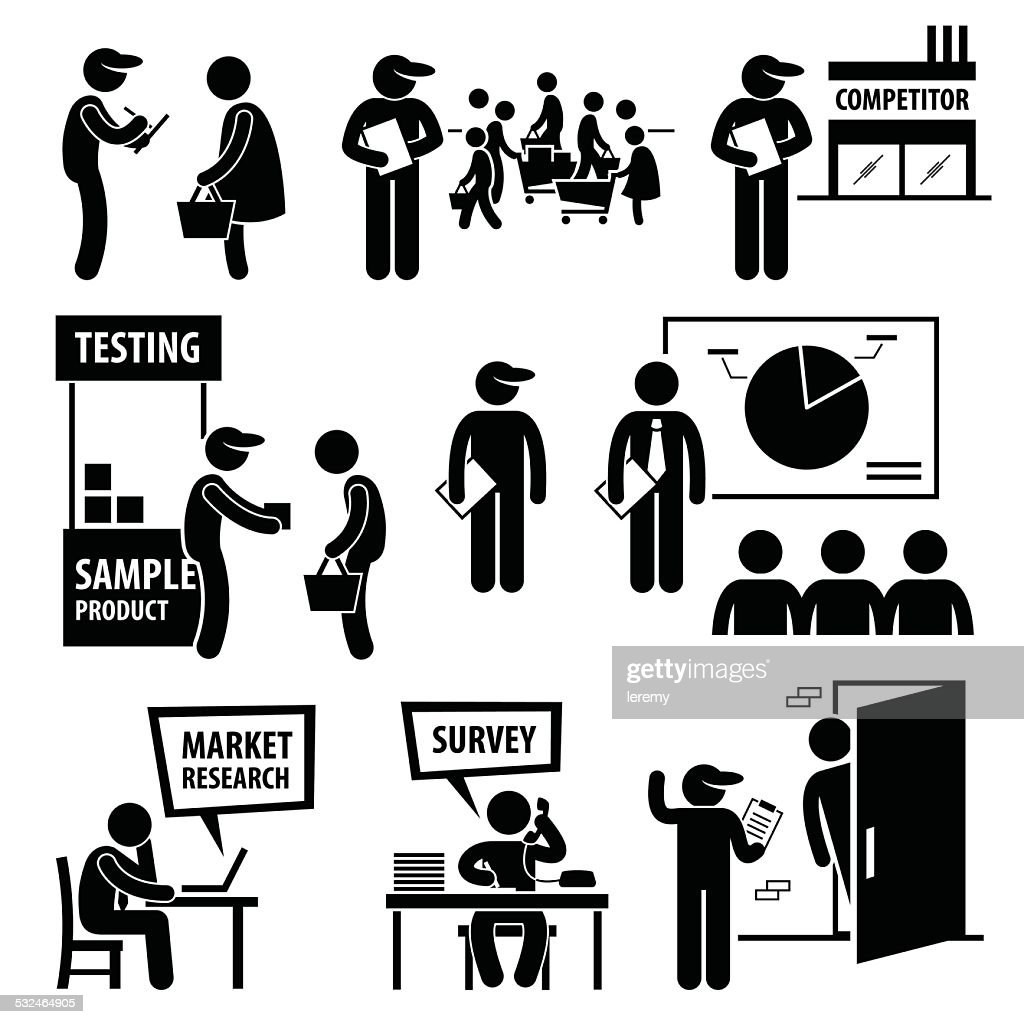Business Market Survey Analysis Research Icons