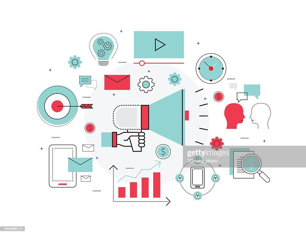 business marketing and business advertising concept