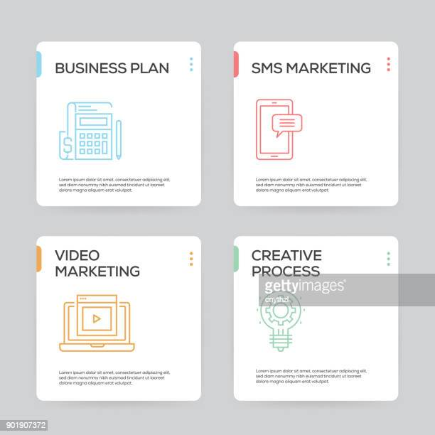 marketing brochure templateのイラスト素材と絵 getty images
