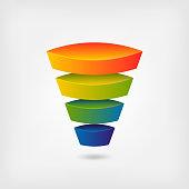 business marketing multicolor funnel