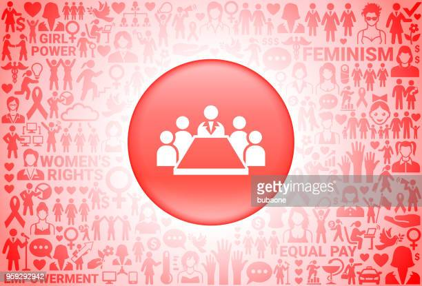 business meeting girl power women's rights background - me too social movement stock illustrations, clip art, cartoons, & icons
