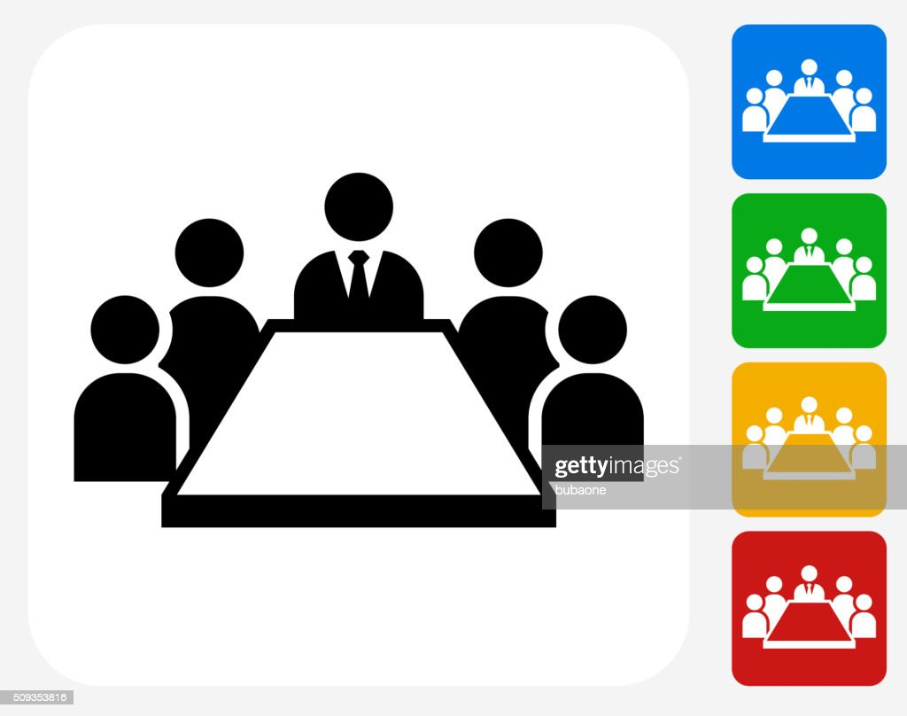 Business Meeting Icon Flat Graphic Design : stock illustration