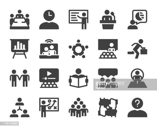 ビジネスミーティング-アイコン - executive director点のイラスト素材/クリップアート素材/マンガ素材/アイコン素材