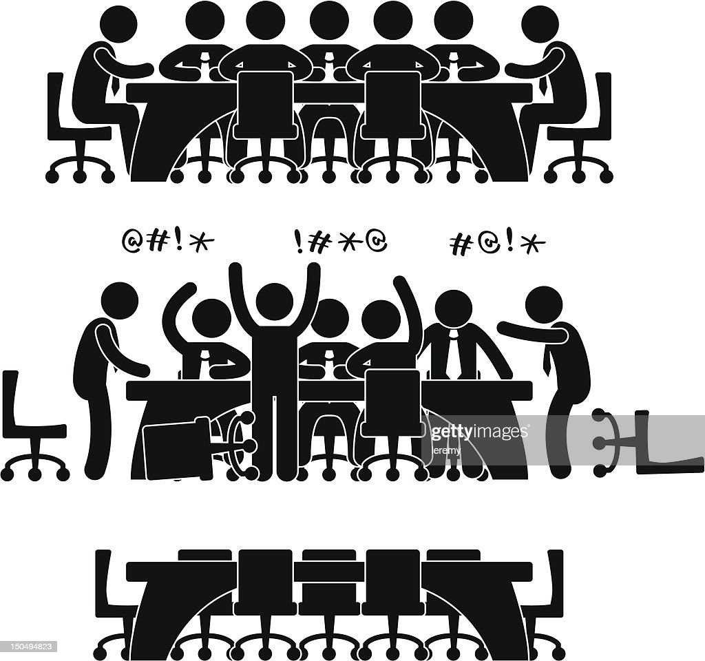 Business Meeting Pictogram