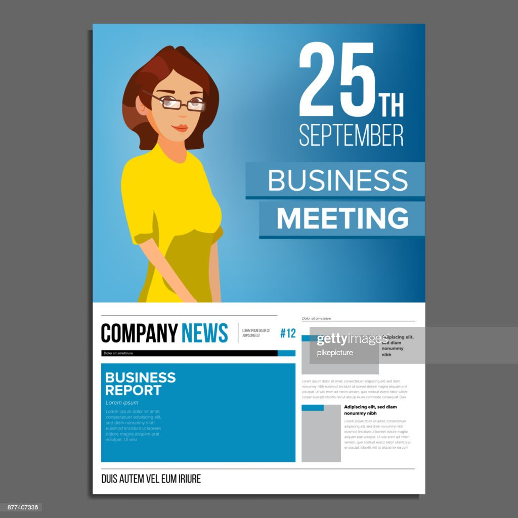 Business meeting poster vector business woman invitation and date business meeting poster vector business woman invitation and date conference template a4 stopboris Images
