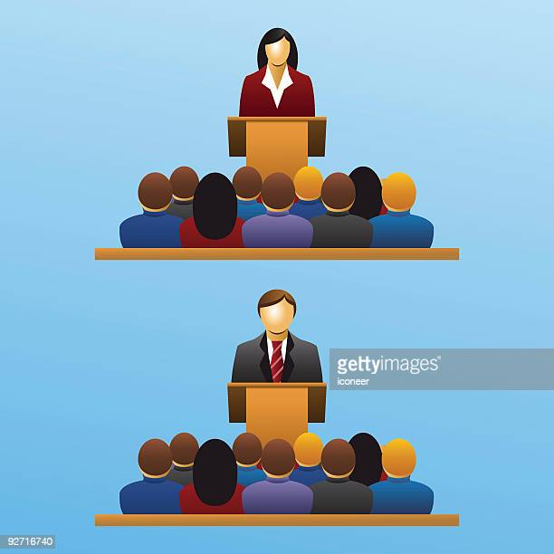 business meeting, presentation and auditory set 2 - congregation stock illustrations
