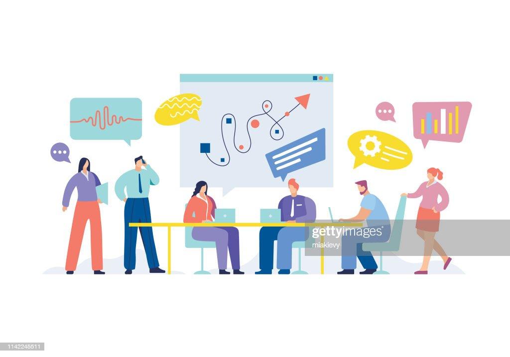 Reunião de negócio : Ilustração