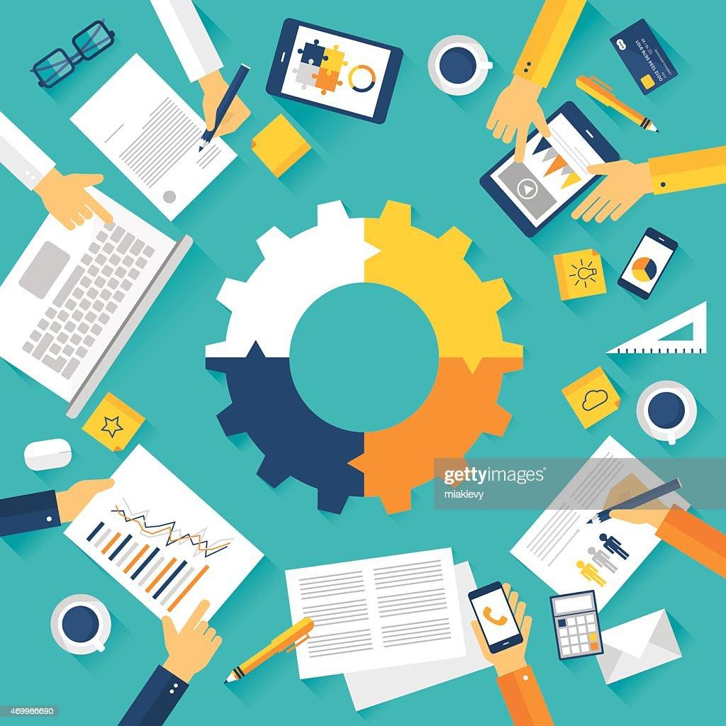 Business meeting : stock illustration