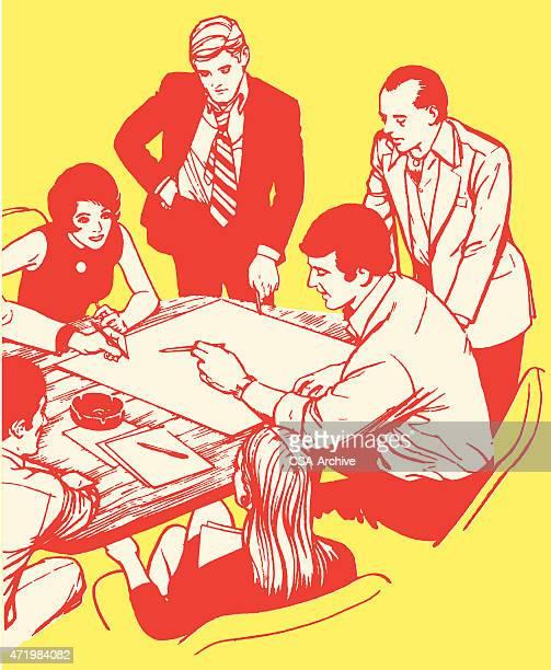 illustrations, cliparts, dessins animés et icônes de réunion d'affaires - profession supérieure ou intermédiaire