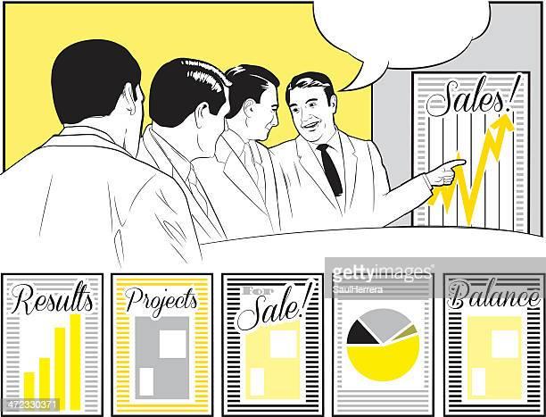 ビジネスミーティング - 担当責任者点のイラスト素材/クリップアート素材/マンガ素材/アイコン素材