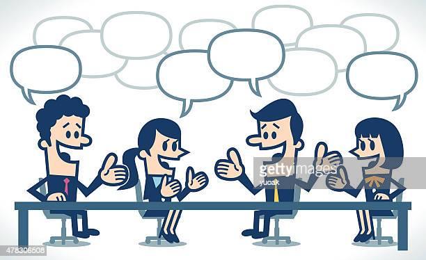 illustrations, cliparts, dessins animés et icônes de réunion d'affaires - brainstorming