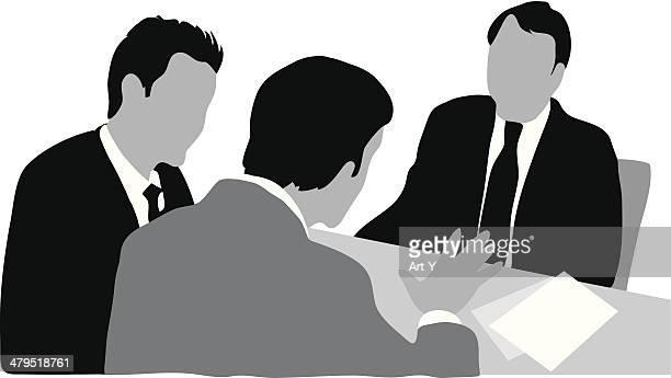 ビジネスミーティング - 外交点のイラスト素材/クリップアート素材/マンガ素材/アイコン素材