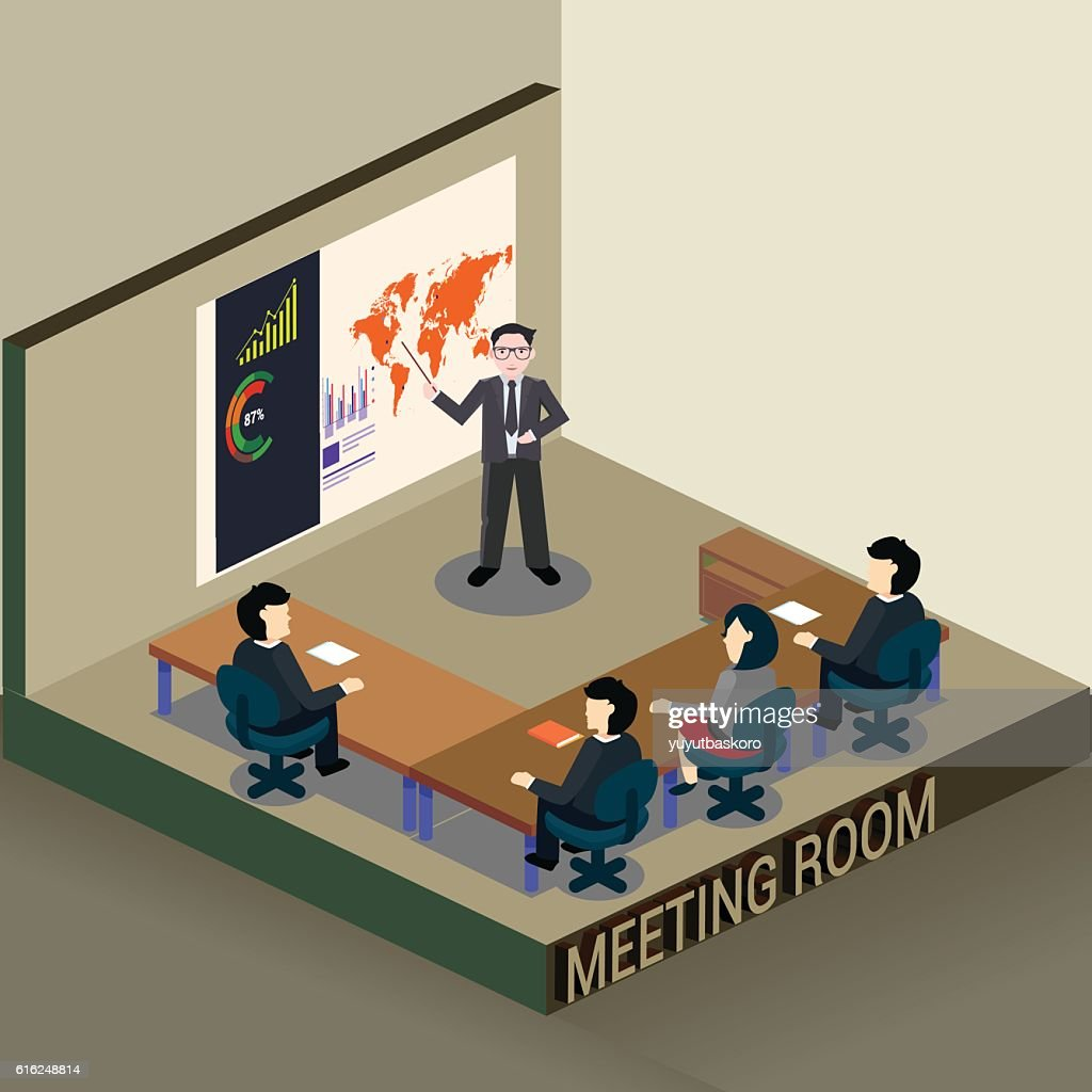 Business meeting : Vector Art