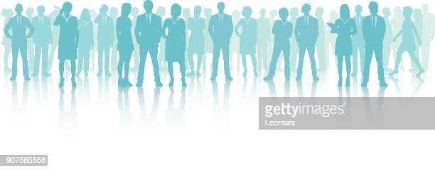 business meeting (all people are complete and moveable) - obscured face stock illustrations, clip art, cartoons, & icons
