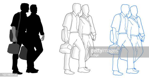 business men colleagues - lunch break stock illustrations, clip art, cartoons, & icons