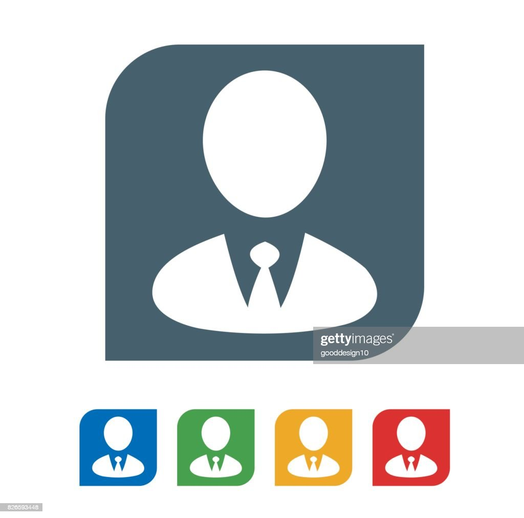 Business men flat icon isolated on white background. vector illustration icon