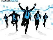 Business Men in Career Race