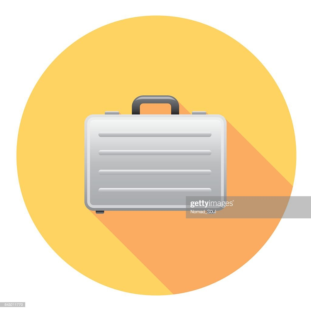 Business Metal Case Flat Icon