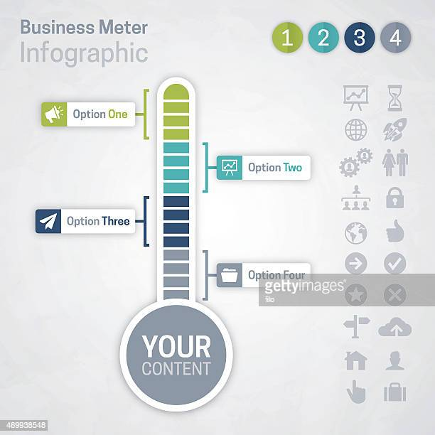 business meter - temperature stock illustrations
