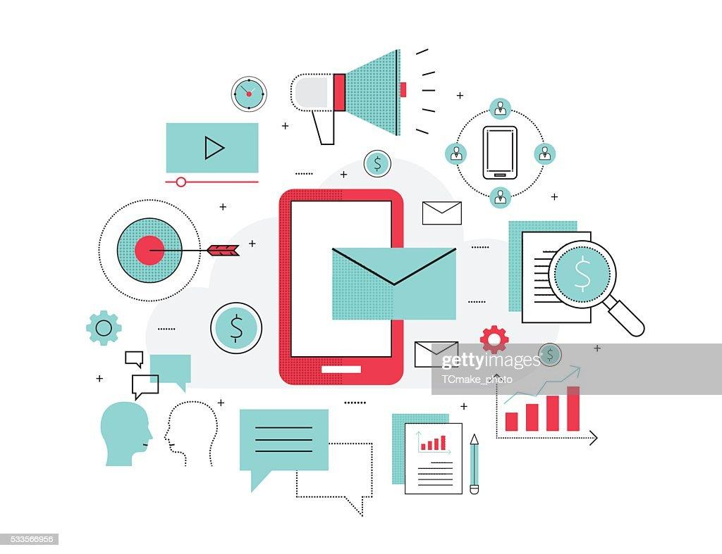 business mobile marketing online concept